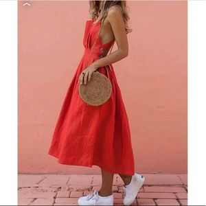 Forever 21 Contemporary Red Summer Dress